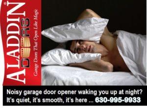 quiet and smooth garage door opener ad