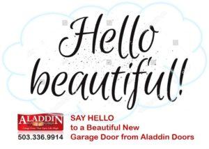 'say hello' to a new garage door graphic