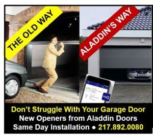 modern garage door opener technology graphic