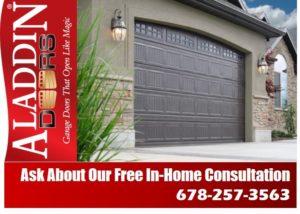 Free consultation garage door installation ad