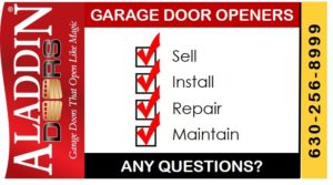 garage door opener sales, installations, repairs and maintenance ad