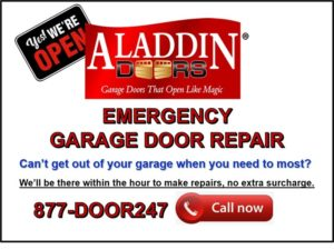 Emergency garage door repair ad