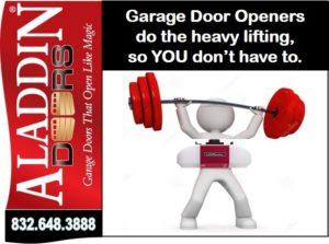 garage door opener services for Houston graphic