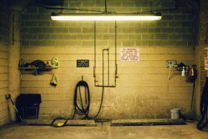 modern garage interior walls