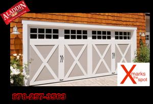 Modern X shape garage door design