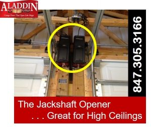 wall mounted jackshaft garage door openers