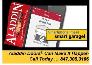 smart garage door opener technology ad