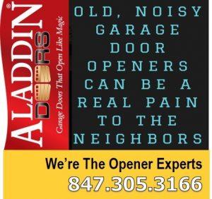 Noisy garage door replacement chicago ad