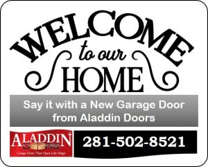 welcome to your home with new garage door graphic